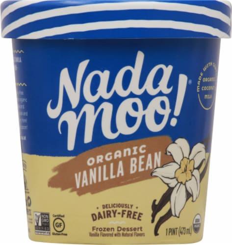 Nadamoo Organic Vanilla Bean Dairy Free Frozen Dessert Perspective: front