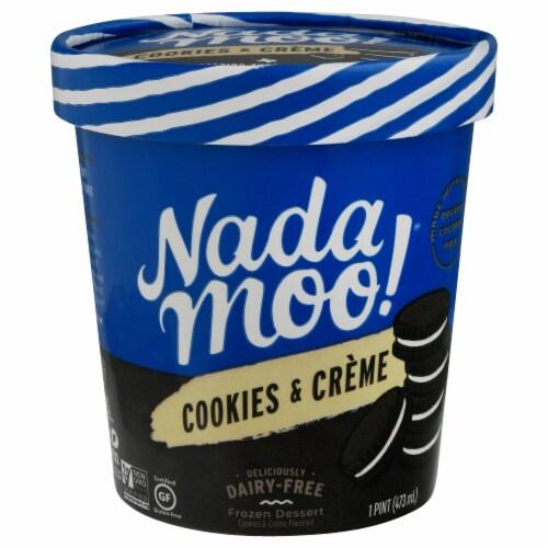 Nadamoo Cookies & Cream Dairy Free Frozen Dessert Perspective: front