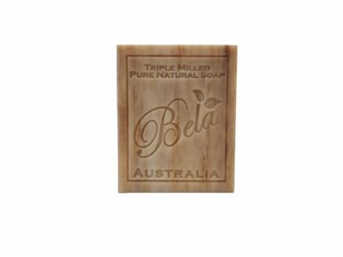 Bela Pure Natural Sandalwood Soap Bar Perspective: front