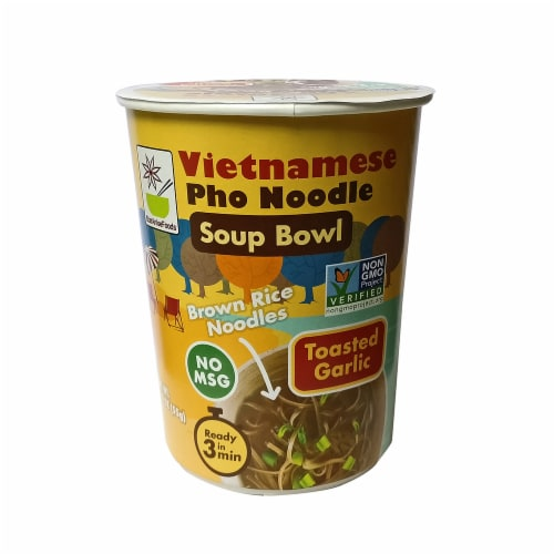 Star Anise Vietnamese Pho Noodle Toasted Garlic Soup Bowl Perspective: front