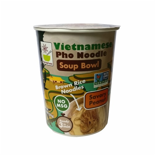 Star Anise Vietnamese Pho Noodle Savory Peanut Soup Bowl Perspective: front