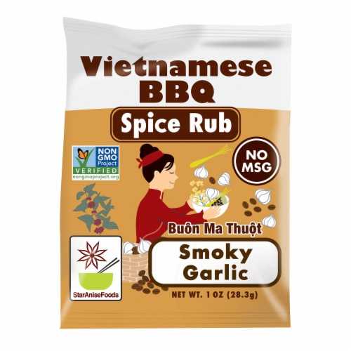 Star Anise Foods Buon Ma Thuot Smoky Garlic Vietnamese BBQ Spice Rub Perspective: front