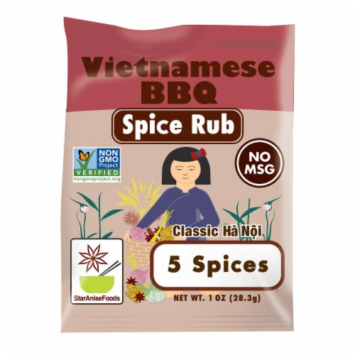 Star Anise Foods Classic Ha Noi Vietnamese BBQ Spice Rub Perspective: front