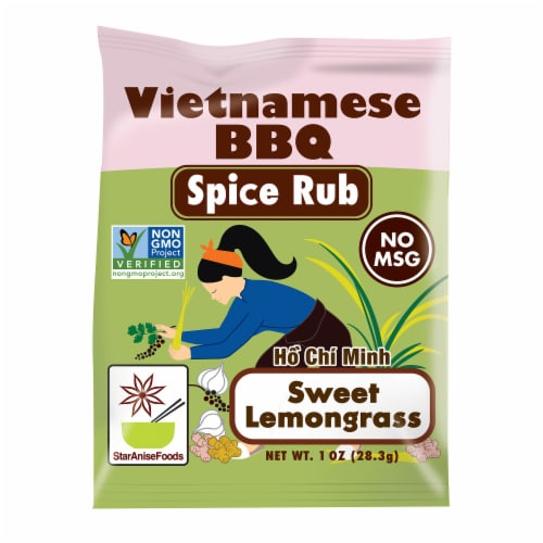 Star Anise Foods Ho Chi Minh Sweet Lemongrass Vietnamese BBQ Spice Rub Perspective: front