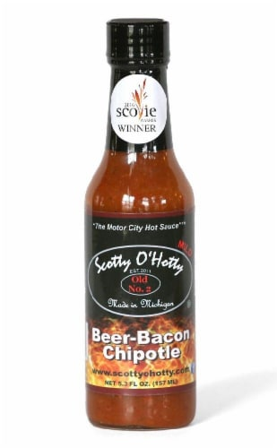 Scotty O'Hotty Beer Bacon Chipotle Sauce Perspective: front