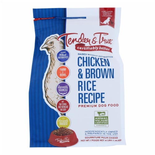 Tender & True Chicken & Brown Rice Recipe Dry Dog Food Perspective: front