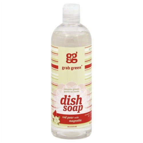 Grab Green Red Pear With Magnolia Liquid Dish Soap Perspective: front