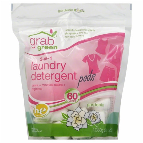 Grab Green 3-In-1 Laundry Detergent Pods Perspective: front
