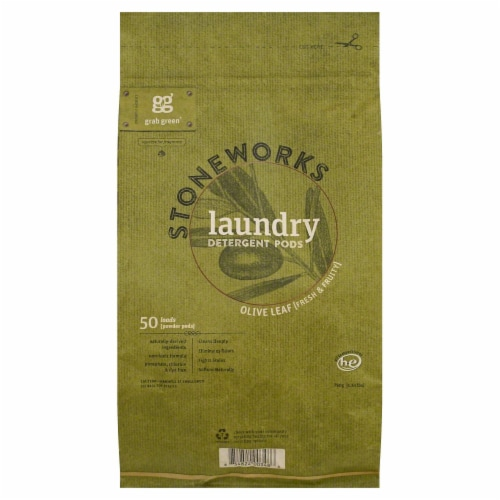 Stoneworks Olive Leaf Laundry Detergent Pods Perspective: front