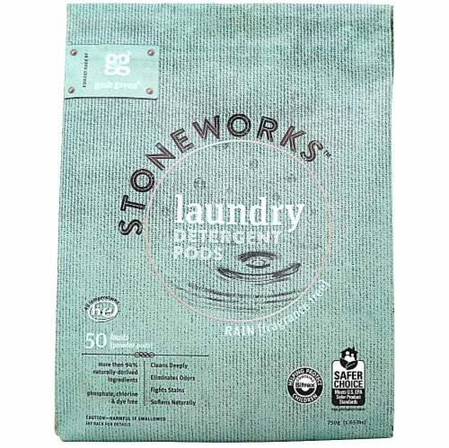 GrabGreen  Stoneworks Laundry Detergent Rain Fragrance Free Perspective: front