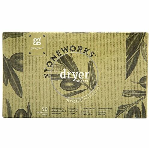GrabGreen  Stoneworks™ Dryer Sheets Olive Leaf Perspective: front