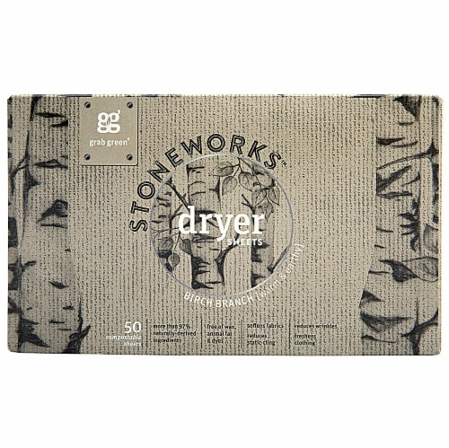 GrabGreen  Stoneworks™ Dryer Sheets Birch Branch Perspective: front