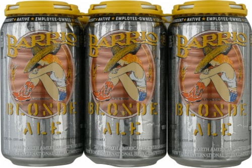 Barrio Brewing Blonde Ale Beer Perspective: front