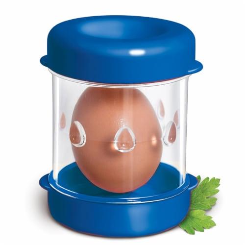 Negg Boiled Egg Peeler - BLUE Perspective: front