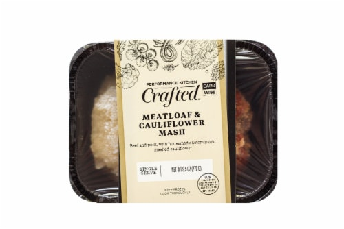 Eat Local Keto Meatloaf and Cauliflower Mash Frozen Meal Perspective: front