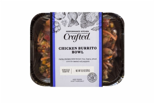 Performance Kitchen Crafted Chicken Burrito Bowl Frozen Meal Perspective: front