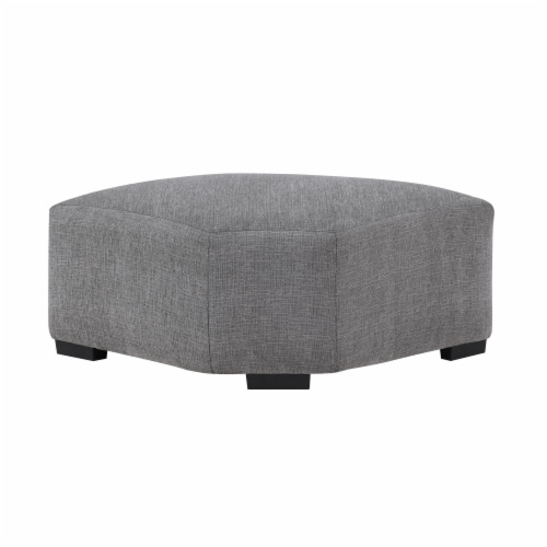 Sitswell Harmony Gray Sectional Ottoman Perspective: front