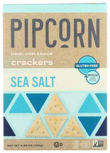 Pipcorn Sea Salt Heirloom Snack Crackers Perspective: front