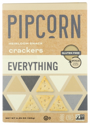 Pipcorn Everything Heirloom Snack Crackers Perspective: front