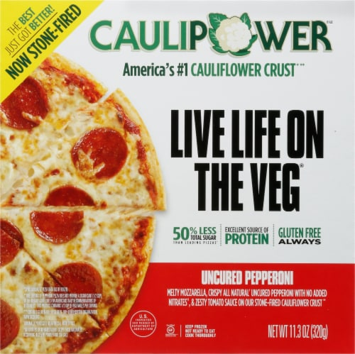 Caulipower All Natural Uncured Pepperoni Cauliflower Pizza Perspective: front