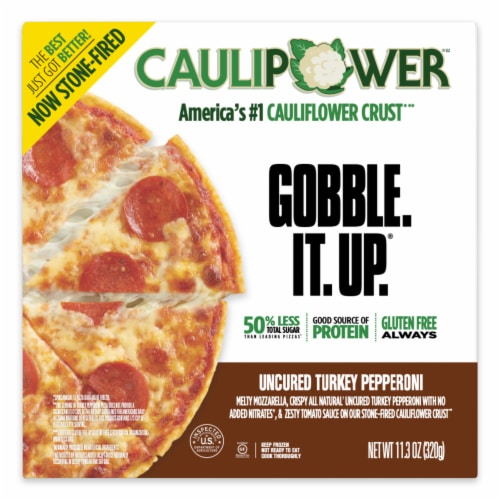 Caulipower All Natural Turkey Pepperoni Pizza Perspective: front