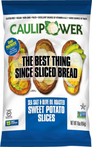 Caulipower Sweet Potatoasts Sea Salt & Olive Oil Roasted Sweet Potato Slices Perspective: front