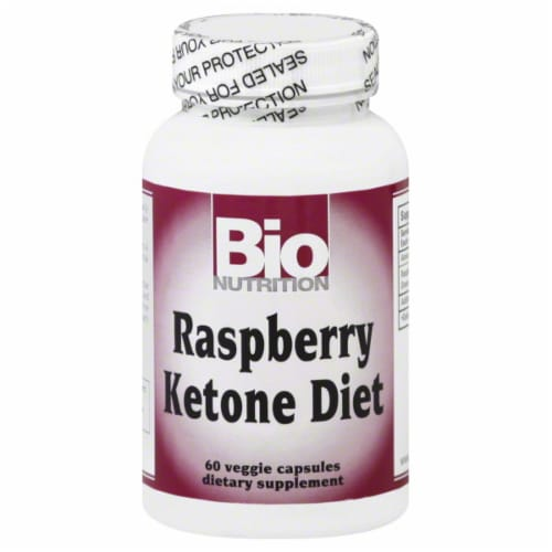 BioNutrition Raspberry Ketone Dietary Supplement Capusles Perspective: front