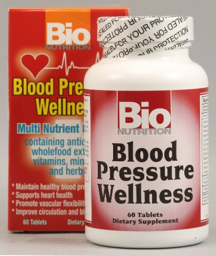 Bio Nutrition Blood Pressure Wellness Tablets Perspective: front