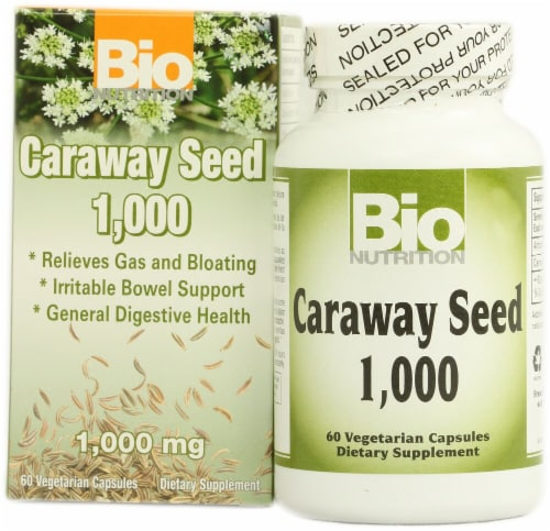 Bio Nutrition Caraway Seed Vegetarian Capsules 1000 mg Perspective: front