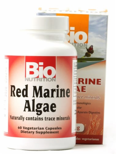 Bio Nutrition Red Marine Algae Capsules 1000mg Perspective: front