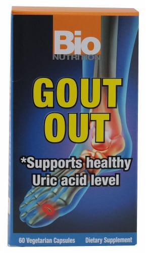 Bio Nutrition Gout Out Vegetarian Capsules Perspective: front