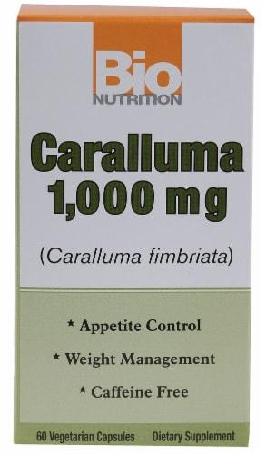 Bio Nutrition Caralluma Vegetarian Capsules 1000mg Perspective: front