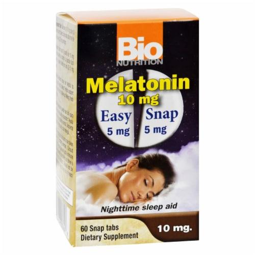 Bio Nutrition Melatonin 10 mg Perspective: front