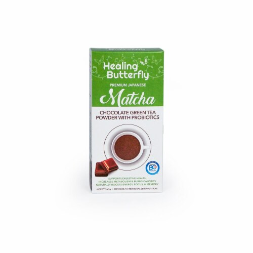 Healing Butterfly  Premium Japanese Matcha Green Tea Powder   Chocolate Perspective: front