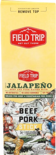 Field Trip Spicy Jalapeno Beef Pork Sticks Perspective: front