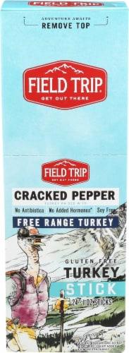 Field Trip  Turkey Jerky Stick Gluten Free   Cracked Pepper Perspective: front