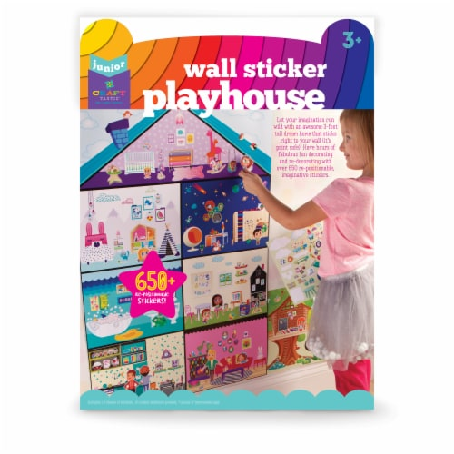 Craft-tastic Jr. Wall Sticker Playhouse Perspective: front