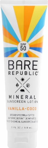 Bare Republic Sport Mineral Sunscreen Lotion SPF 50 Perspective: front