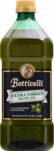 Botticelli Extra Virgin Olive Oil Bottle Perspective: front