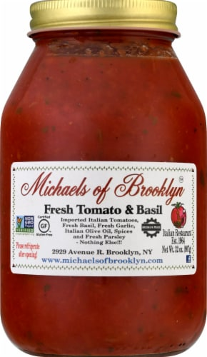 Michaels of Brooklyn Fresh Tomato & Basil Sauce Perspective: front