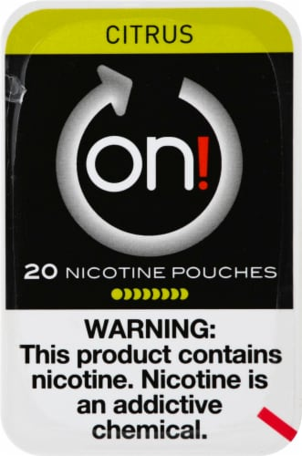 on! Citrus Nicotine Pouches Perspective: front