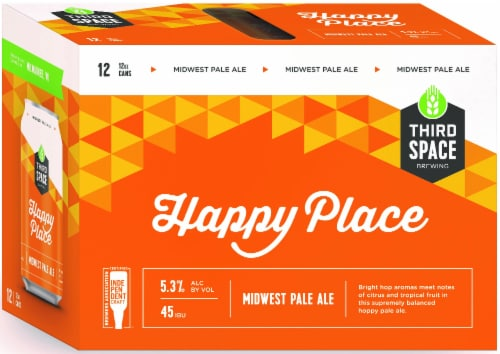 Third Space Brewing Happy Place Midwest Pale Ale Perspective: front