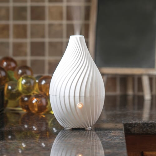 SpaRoom  Spirale Essential Oil Diffuser White Perspective: front