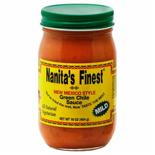 Nanita's Finest Mild Green Chile Sauce Perspective: front