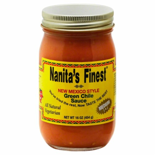 Nanita's Finest Medium New Mexico Style Green Chile Sauce Perspective: front