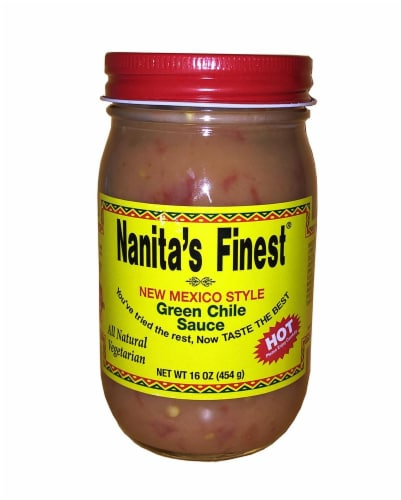 Nanita's Finest Hot Green Chile Sauce Perspective: front