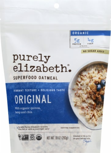 Purely Elizabeth Ancient Grain Organic Oatmeal Perspective: front