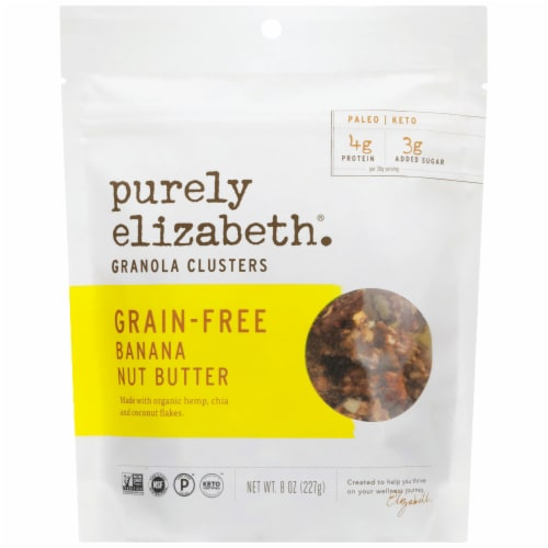 Purely Elizabeth Banana Nut Butter Grain-Free Granola Perspective: front