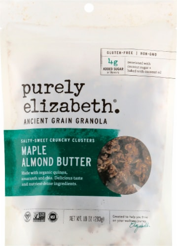 Purely Elizabeth Ancient Grain Maple Almond Butter Granola Perspective: front
