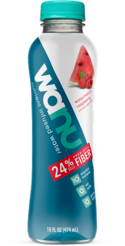 Wanu Watermelon Raspberry Nutrient Infused Water Perspective: front